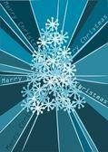 Blue christmas tree - vector — Stock Vector