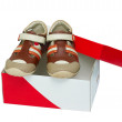 small color children shoes — Stock Photo