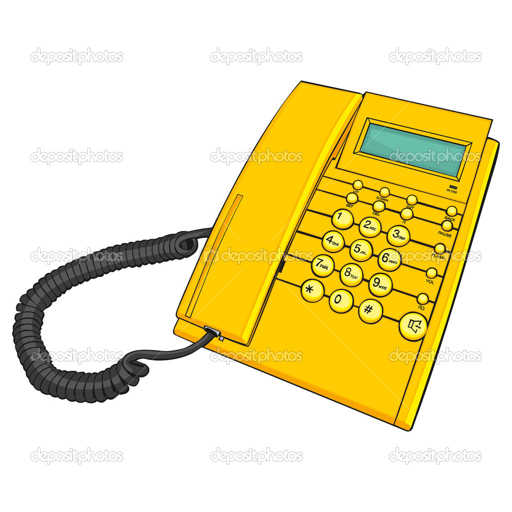 Fully editable illustration of isolated phone  Stock Vector #5545334