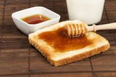 Honey breakfast — Stock Photo