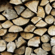 Background pile of fire wood — Stock Photo