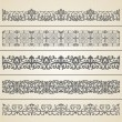 Royalty-Free Stock Vector Image: Seamless borders set 3