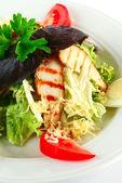 Caesar salad with chicken — Stock Photo
