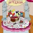 Illustration a background for a holiday the cheerful Birthday — Stock Photo