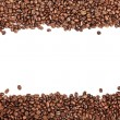 White stripe within brown roasted coffee beans — Stock Photo