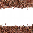 White stripe within brown roasted coffee beans — Stock Photo #5705716