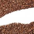 Aromatic coffee beans on white background — Stock Photo #5705722
