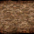 Stock Photo: Old weathered stained red brick wall background