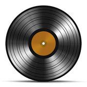 Vintage vinyl record isolated on white background — Stock Photo