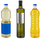 Bottle Blank of Pure Olive or Corn or Nut or Sunflower (Vegetabl — Stock Photo