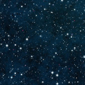 Seamless Starfield with Glowing Stars at Night — Stock Photo
