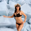 Ice babe. — Stock Photo