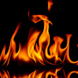 Fire and flames. - Stock Photo