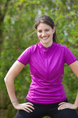 Active young woman — Stock Photo