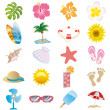 Summer icons set - Stockvektor