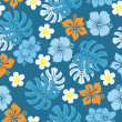 Seamless tropical pattern — Image vectorielle