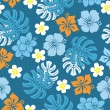 Seamless tropical pattern - Stock Vector