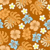 Seamless tropical pattern — 图库矢量图片