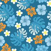Seamless tropical pattern — Cтоковый вектор