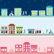 Town banner set - Stock Vector