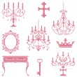 Antique design element set - Stock Vector