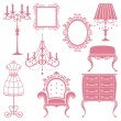 Royalty-Free Stock Vector Image: Antique design element set