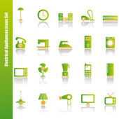 Electrical appliances icons set — Stock Vector