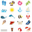 Stock Vector: Summer icons set.