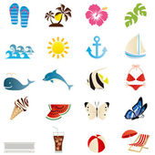 Summer icons set. — Stock Vector