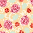 Seamless rose pattern — Vettoriali Stock