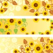 Stock Vector: Sunflower Banners Set