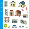 Royalty-Free Stock Vector Image: Town icons set