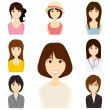 Women set — Stock Vector