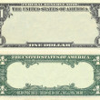Clear 1 dollar banknote pattern — Stock Photo #6251622