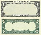1 dolarlık banknot desen temizleyin — Stok fotoğraf