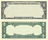 Clear 1 dollar banknote pattern — Stock Photo
