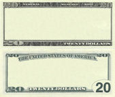 Clear 20 dollar banknote pattern — Stock Photo