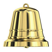 Shiny golden bell,frontal view — Stock Photo