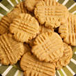 Plate of peanut butter cookies — Stock Photo #5981740