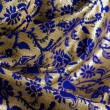 Stock Photo: Blue and gold fabric