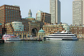 Inside historic rowes wharf in boston massachusetts — Stock Photo