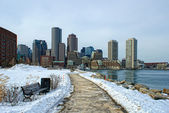 South boston in winter — Stock Photo