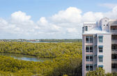 Birds eye view of bonita springs florida — Stock Photo