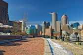 Boston skyline on a sunny winter day — Stock Photo