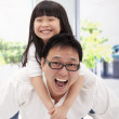 Happy asian family. father and little girl — Stock Photo