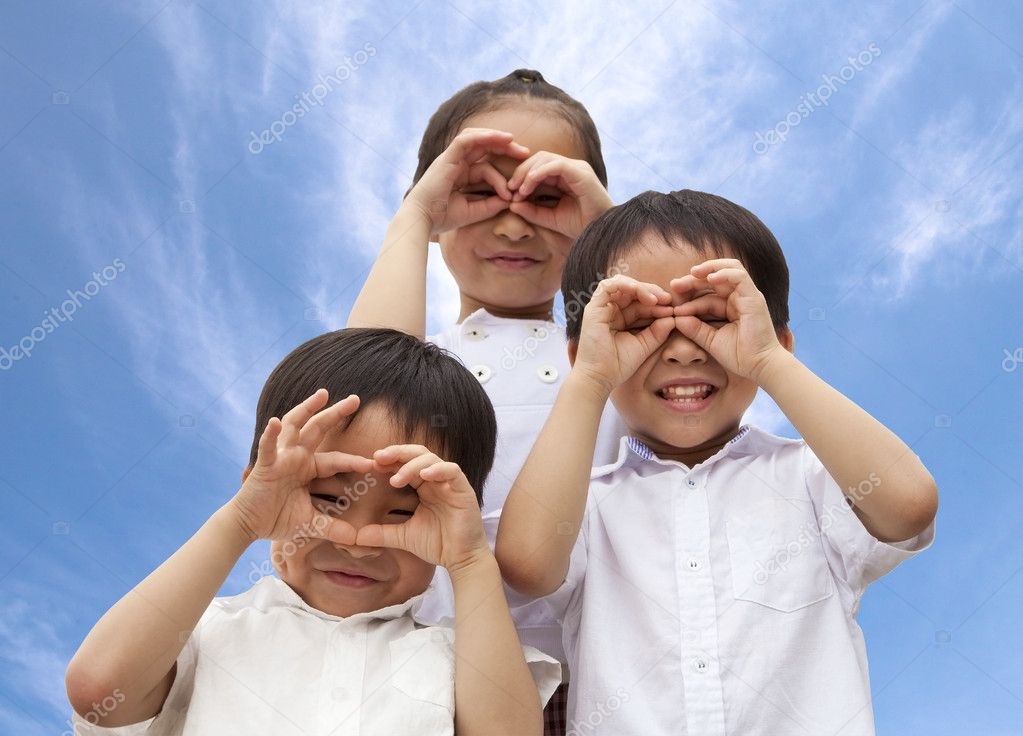 Three asian kids — Stock Photo #5597897