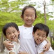 Stock Photo: Happy asian children