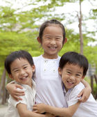 Happy asian children — Stock Photo