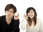 The communication between couple — 图库照片