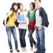 Happy group of young asian students — Stock Photo #5798257